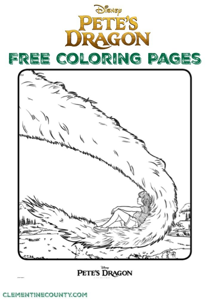 Free Petes Dragon Coloring Pages