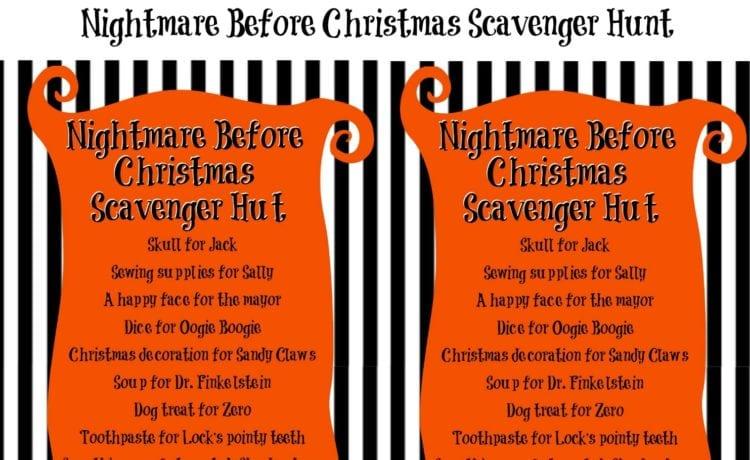 Christmas Scavenger Hunt.Nightmare Before Christmas Scavenger Hunt Clementine County