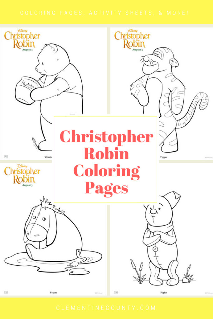 Christopher Robin Coloring Pages Clementine County