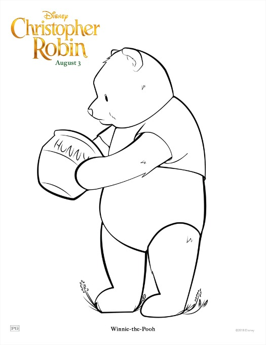 Christopher Robin Coloring Pages | Clementine County