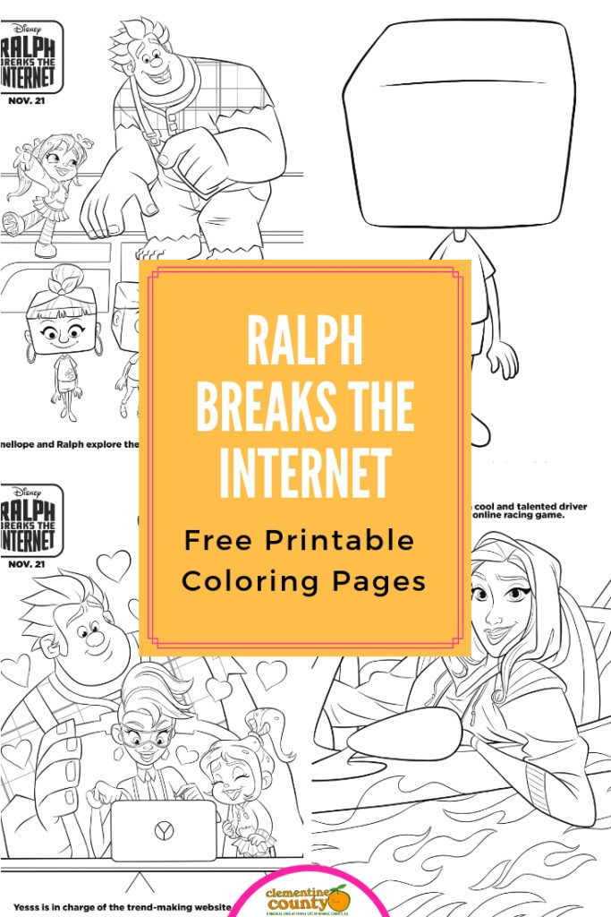 ralph breaks the internet coloring