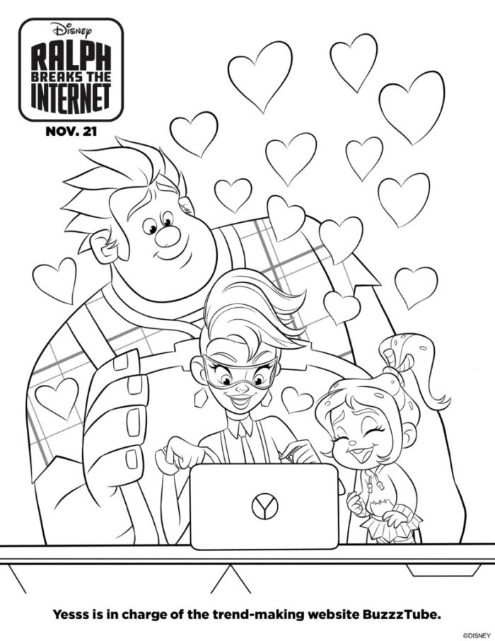 Ralph Breaks the Internet Coloring Pages | Clementine County